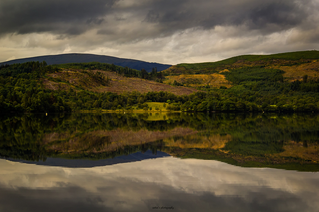 """Loch Ard"", Reflection, ""Ben View"", Aberfoyle, Inversnaid, ""Loch Lomond and the Trossachs National Park"", ""Loch Ard Forest"", Kinlochard"